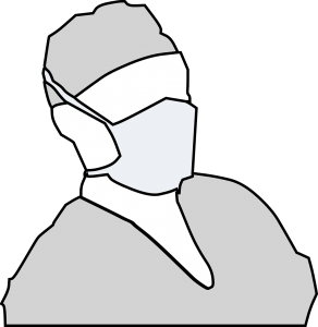General face masks are required for being near people with infections requiring Droplet precuations. This includes: Pertussis, Influenza, and N. Meningitis.